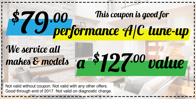 $79.00 performance A/C tune-up! A $127 Value!