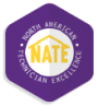 Our technicians are NATE Certified